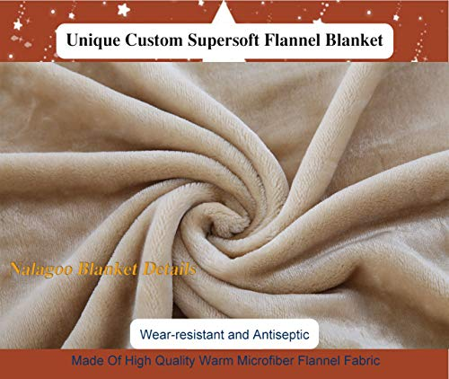 """Nalagoo Unique Custom Flannel Blankets Nicotinic Acid Used To Treat High Cholesterol And Niacin Deficiency Also Known As Vitamin B And Super Soft Blanketry for Bed Couch, Twin Size 60"""" x 70"""""""