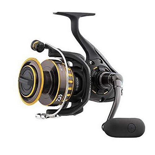 "Daiwa BG4000 BG Saltwater Spinning Reel, 4000, 5.7: 1 Gear Ratio, 6+1 Bearings, 39.90"" Retrieve Rate, 17.60 lb Max Drag"