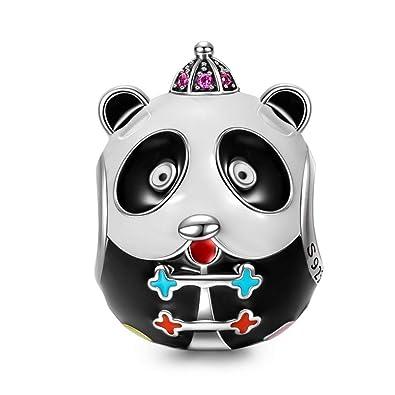 4f616644e2d NINAQUEEN Charm fit pandora charms bracelets Jewellery for Women Girls Panda  Animals 925 Sterling Silver Enamel