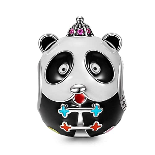 8c9a4a9c0386 NINAQUEEN Kung Fu Panda Abalorio de mujer de plata de ley Charms beads,  Viene con caja de regalo, sin níquel