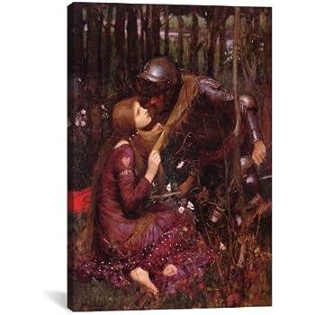 Waterhouse Fantasy Knight Medieval Romance Love Print Poster 13x19 Lamia J.W