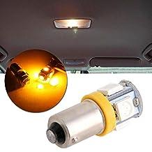 NNDA CO 1Pc T11 BA9S 5050 5-SMD LED Bulb Car Lamp 12V T4W 3886X H6W 363 Yellow Light