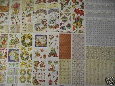 MARY RAHDER Decoupage Christmas XMAS A4 Paper Sheets x16 150100