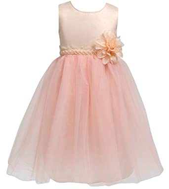 c292c1582 Merry Day Flower Little Girl Party Dress Girls Elegant Tulle Wedding Princess  Gown Pageant Dresses Champagne