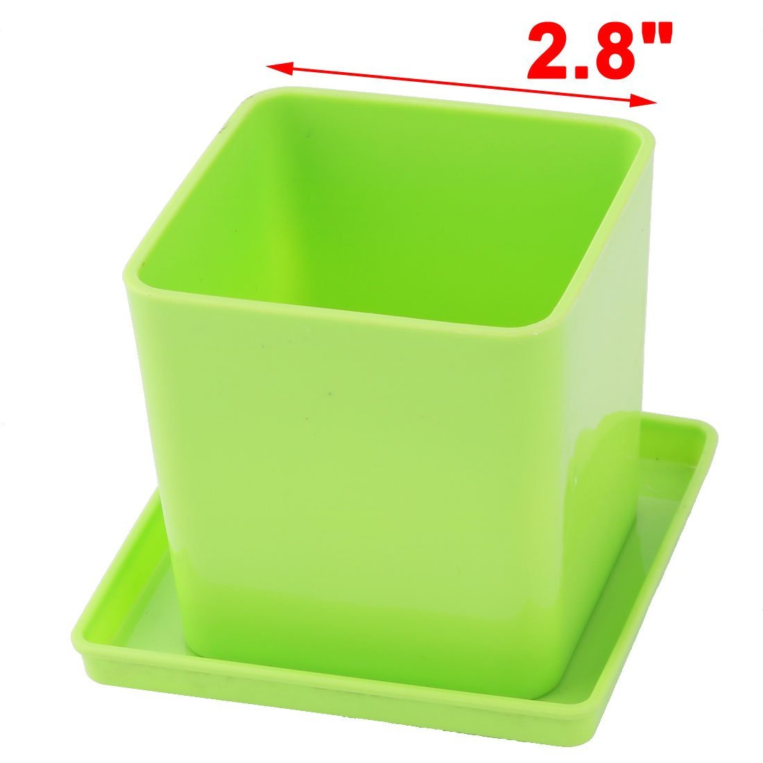 Amazon.com: Titular DealMux plástico Início Square Garden Rose Pot Plant Flower Tray 2,8 polegadas Altura Verde: Home & Kitchen