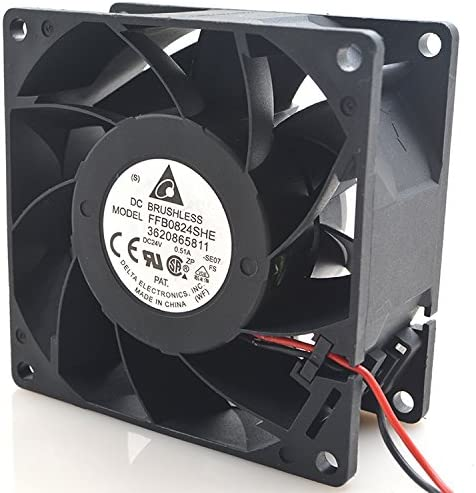 for Delta FFB0824SHE 8038 24V 0.51A 8CM Large Air Volume Double Ball Inverter Fan