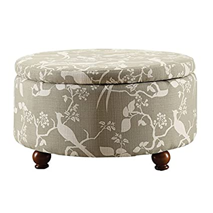 Brilliant Amazon Com Coaster Company Floral Round Storage Ottoman Gmtry Best Dining Table And Chair Ideas Images Gmtryco