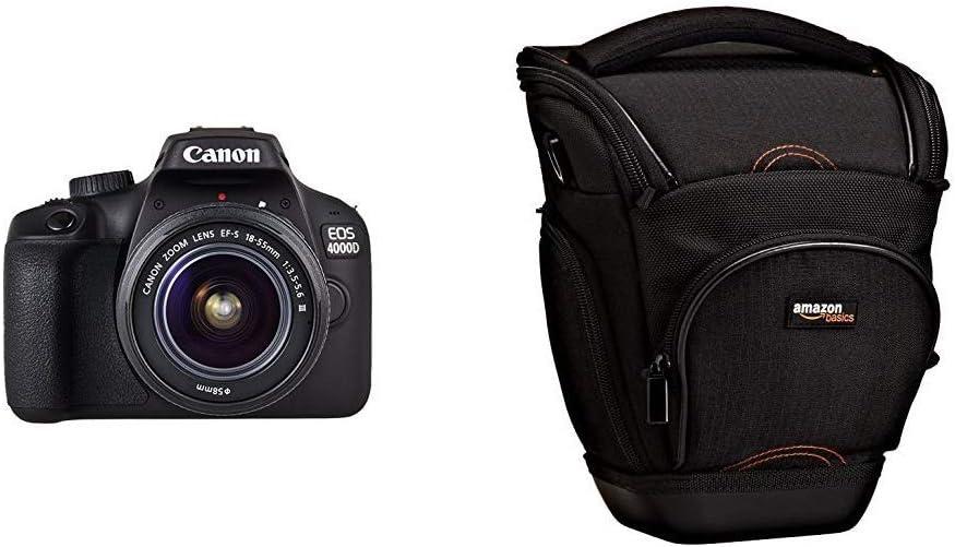 Canon EOS 4000D Camara con Objetivo EF-S 18-55mm III, 18 MP, Negro ...