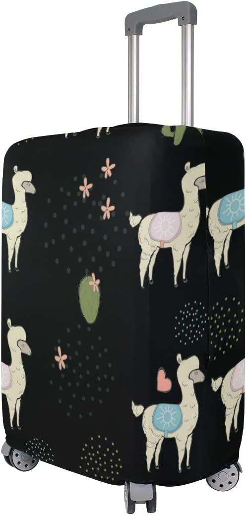 GIOVANIOR Llama Alpaca Cactus Luggage Cover Suitcase Protector Carry On Covers