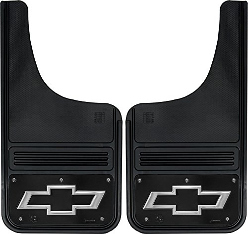 - Gatorback Chevy Silverado Bowtie Truck Mud Flaps - Front or Rear Pair - Black Wrap