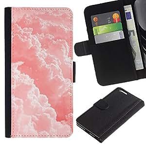 APlus Cases // Apple Iphone 6 PLUS 5.5 // Rosa Nubes Cielo Sol Cielo // Cuero PU Delgado caso Billetera cubierta Shell Armor Funda Case Cover Wallet Credit Card