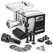 "The All New Patented Model STX-4000-TB2 Turboforce II ""Quad Air Cooled"" Black Electric Meat Grinder & Sausage Stuffer - The Ultimate in Power, Style and Performance."