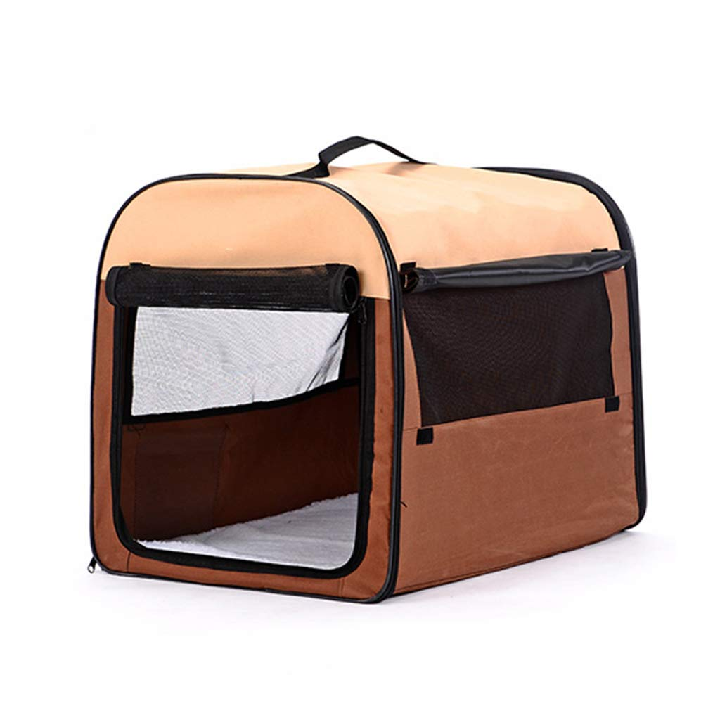 L 90x58x63cm Pet Bed Dog Cat Bed Tent Cushion Oxford Cloth Foldable Washable Scratch Proof All Seasons for Small and Medium Pet (Size   L 90x58x63cm)