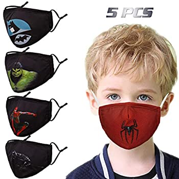 Washable Children Face Masks with Adjustable Ear Loops Reusable for Youngsters Present