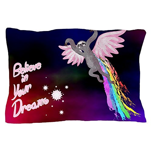 CafePress - Believe In Your Dreams Sloth Pillow Case - Standard Size Pillow Case, 20