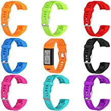 Bands for Garmin Vivosmart HR+, Garmin vívosmart HR+ Replacement Soft Silicone Bracelet Sport Strap WristBand Accessory with Pins and Adapter Tools by TenYun (8PCS)