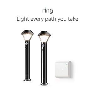 Ring Smart Lighting – Pathlight, Battery-Powered, Outdoor Motion-Sensor Security Light, Black (Starter Kit: 2-pack)