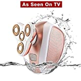 Women's Legs Hair Removal,FMK Ladies Painless Razor Shaver Electric Trimmer for Body Underarms Bikini Waterproof Cordless As Seen On TV