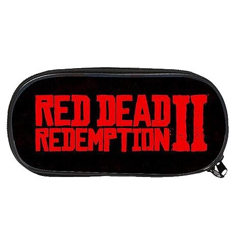 per Estuches para Lápices para Niños Cajas de Organizador para Bolígrafos Bolso de Papelerías de Juegos Red Dead Redemption 2