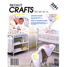 McCall's 2291 Sewing Pattern Baby Room Quilt Diaper Stacker Crib Bumper Pillow Sham Crib Toy