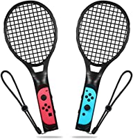 Haloword Twin Pack Tennis Racket for Nintendo Switch Joy-Con Controllers, Tennis Racket Handle Controller Compatible with all racket sports Somatosensory games including Mario Tennis Aces