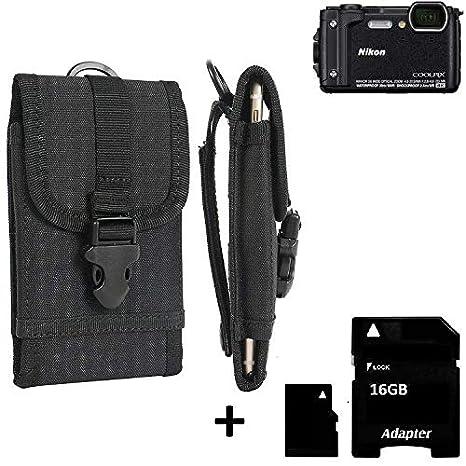 K-S-Trade® Bolsa del Cinturón/Funda para Nikon Coolpix W300 ...