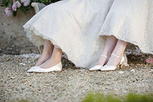 Vestir 301022 De Para Blanco Marfil Satn Elsa Shoes Zapatos Mujer Coloured F6qXx7wf