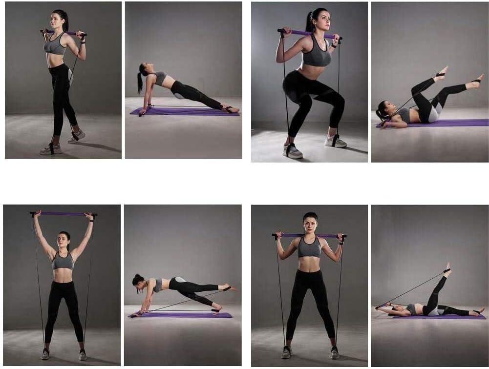 BRANDNEWS Tragbares Pilates-Lenkerset mit Widerstandsband multifunktionaler Langer Widerstandsband-Lenker Fitness-Pilates-Lenker f/ür das Bodybuilding-Training excellently