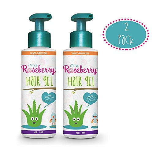 Hair Gel for Kids | Light Hold | Chemical Free | Made with Organic Aloe Vera and Vitamins | Safe on Babies, Toddlers, Men and Women | Always Paraben, Sulfate & Fragrance Free | Made in USA