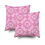 ROOLAYS Decorative Throw Square Pillow Case Cover 16X16Inch,Cotton Cushion Covers pattern watercolor valentines background Both Sides Printing Invisible Zipper Home Sofa Decor Sets 2 PCS Pillowcase
