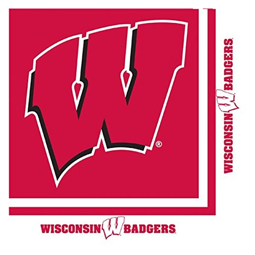 Creative Converting 664858 Univ of Wisconsin 2 Ply Lunch Napkins 240 Counts by Creative Converting