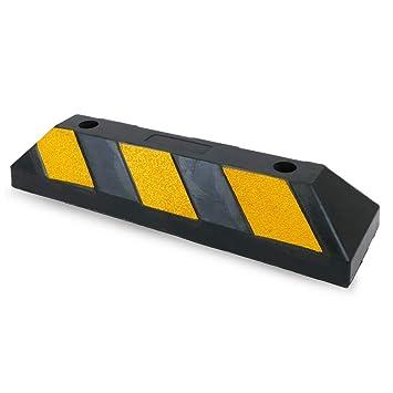 PrimeMatik - Tope de suelo para ruedas de parking aparcamiento de goma 55 cm 2-