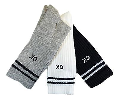 Calvin Klein 3 Pk Sport Pack Cotton Athletic Crew Socks
