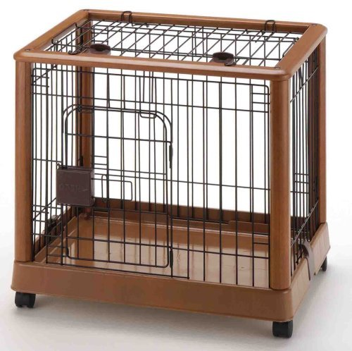 Richell Wood Mobile Pet Pen 640, Autumn Matte Finish by Richell