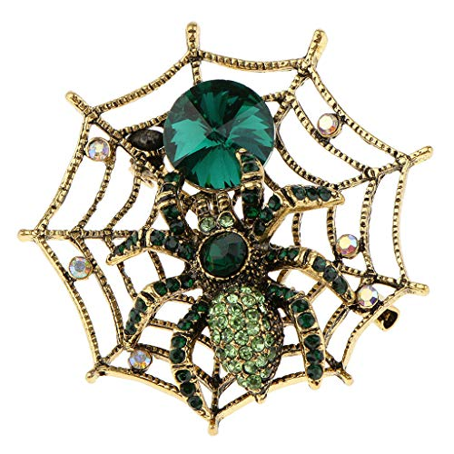 Spiderweb Spider Brooch Halloween Fancy Dress Costume Bags Jewelry Ornaments | Color - -