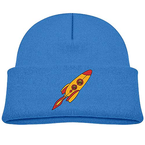 Red Yellow Rocket Spaceship Wool Beanie Hat Fashion Unisex Winter