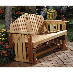 A Woodworking Pattern and Instructions Pkg to Build a Glider Bench