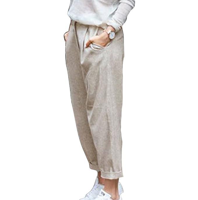 e73a06f69d Huateng Pantaloni estivi da donna Pantaloni da spiaggia Pantaloni ...