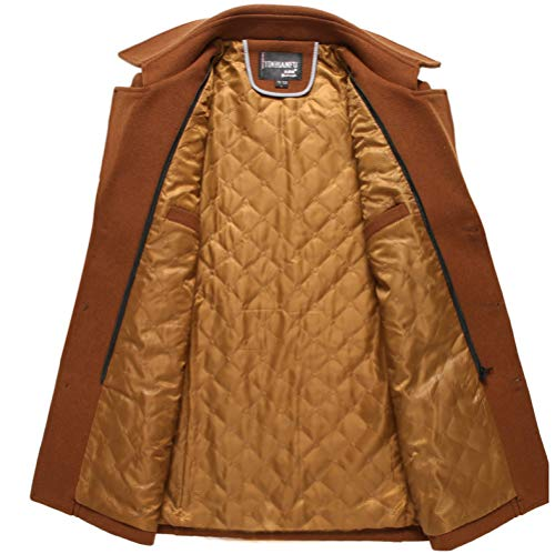 Blue Yra Outerwear Medium Male Slim Windbreaker For Long Tops Lapel Mens With Business Fit Woolen Coat Fleece Gentleman Scarf Jacket frwgHTf