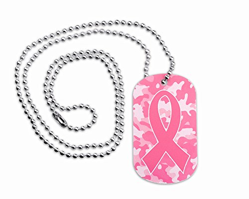 Breast Cancer Awareness Dog - Breast Cancer Awareness Camouflage Dog Tag (25 Necklaces in Individual Bags)