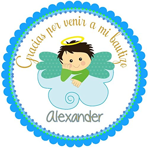 40 Round Labels 2 Mi Bautizo Personalized Stickers Baptism Christening Custom Hang Tags Little Angel Labels Party Favors Choice Of Size