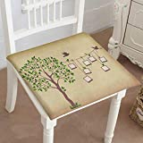 Mikihome Memory Foam Chair Pads Memories Tree withframes Insert Your Photos into Frames Cushion Perfect Indoor/Outdoor 16''x16''x2pcs
