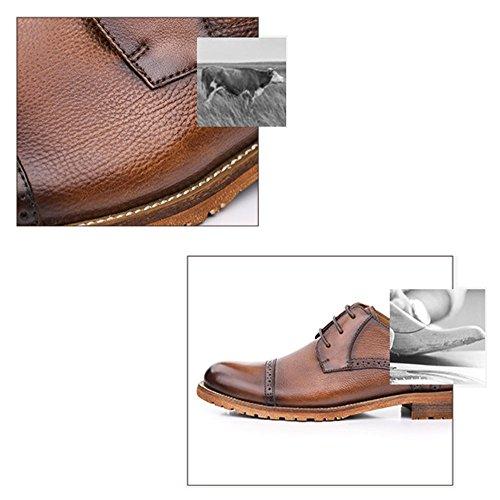 Hommes Respirant Plein Coffeecolor Mode La Air en Main en à Confortables Occasionnels Chaussures Affaires Cuir LYZGF RdwqAnTT