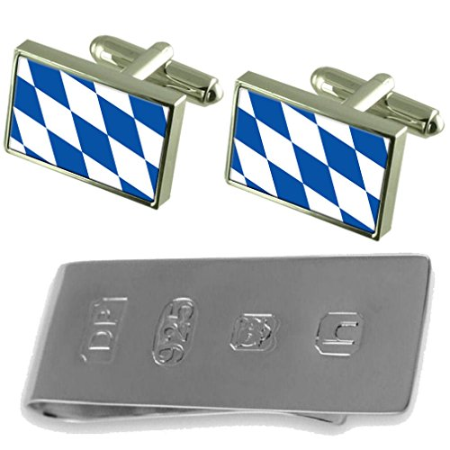 Money Bavaria James Bond of Free Cufflinks State amp; Clip Flag v4nqfx
