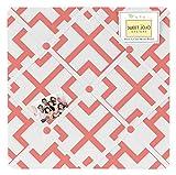 Sweet Jojo Designs Coral Mod Diamond Geometric Print Fabric Memory/Memo Photo Bulletin Board