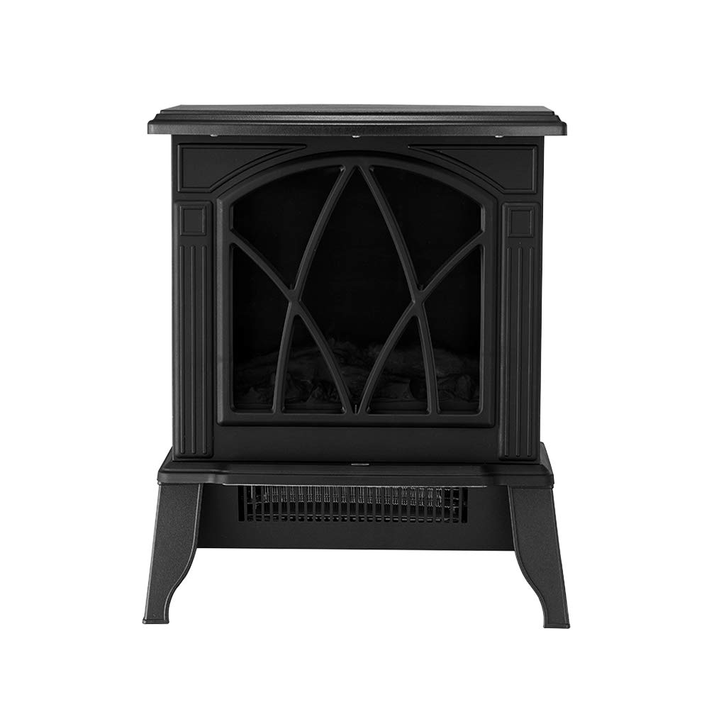 elevenfurniture Free Standing Electric Heaters Electric Fireplace Fire Wood Flame Heater Stove Living Room Log Burner Fan Heat