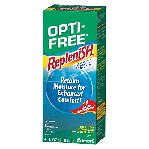 Hydrogel Vision Lenses - Opti-Free Replenish Multi-Purpose Disinfecting Solution for Silicone Hydrogel and Soft Contact Lenses 4oz (1 Box Only)