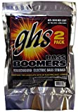 GHS Strings ML3045-2, 4 String Bass Boomers, Nickel-Plated Electric Bass Strings, Medium Light, 2 Pack (.045-.100)