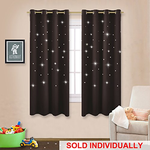 Thermal Insulated Star Blackout Curtain   NICETOWN Kid Sky Wonder Star Cut  Out Functional Drape Panel For Bedroom /Living Room /Studio /Kidu0027s Room 52  By ...