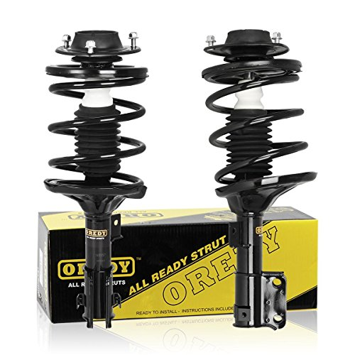 OREDY Front Left & Right Complete Quick Struts Shocks Absorber Coil Spring Assembly Kit XS857141122 XS857141021 11191 11192 Fits for 2001 2002 2003 2004 2005 Dodge Stratus & Chrysler Sebring ()